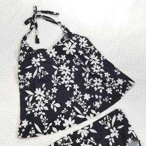 Motherhood Swimsuit Tankini Maternity Halter 1X